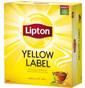 LIPTON YELLOW LABEL 100 torebek.