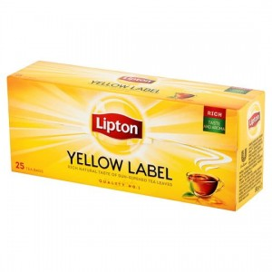 LIPTON YELLOW LABEL 25 torebek